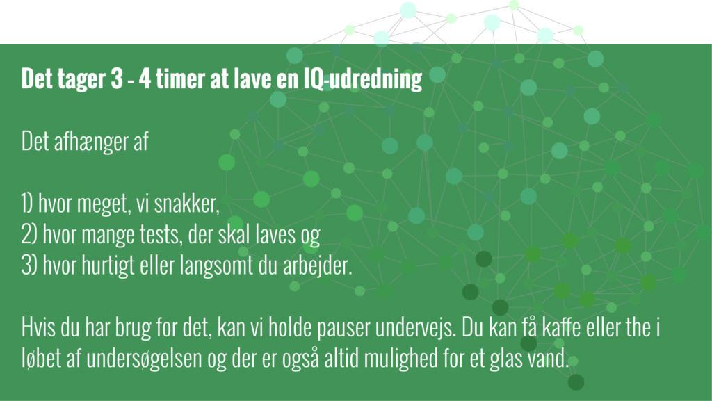 Hvad er en IQ udredning og hvor lang tid tager det??